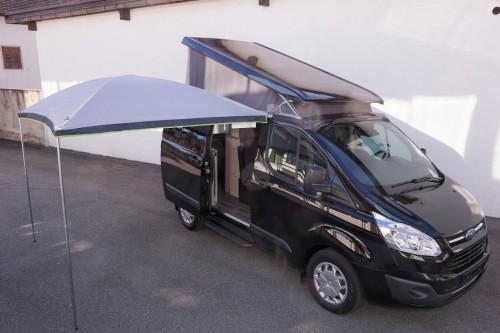 Sonnenvordach mit Kuppeldach Palm Beach für Ford Custom Nugget und Tourneo