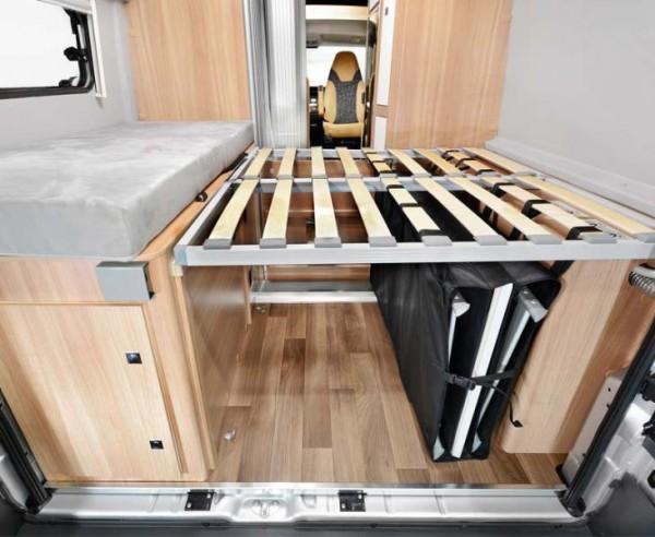 Staubox Zoombox unter dem Heck Bett für Kastenwagen vertikal