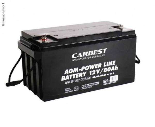 Batteria AGM 80Ah ideale per furgone camperizzato e Camper Van, Minibus
