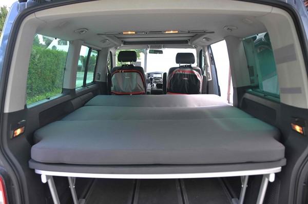 Schlafauflage / Faltmatratze Luxus für VW T5 / T6 California Beach und Multivan