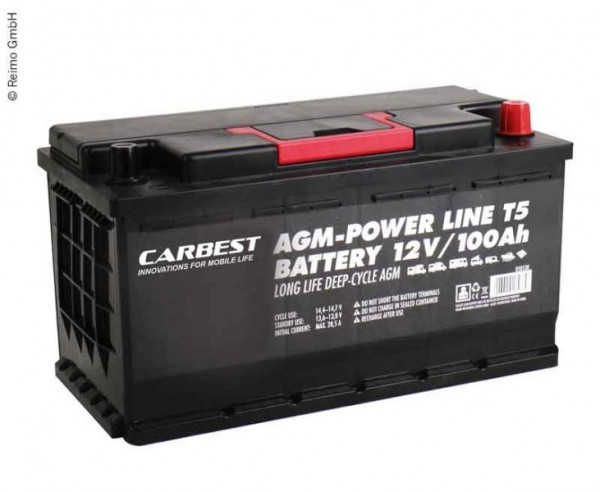 Batteria AGM 100Ah ideale per Volkswagen VW T6 e T5