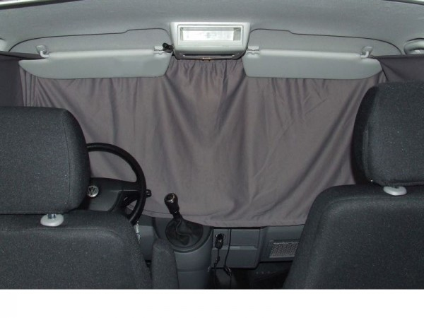 Vorhang-Satz Fahrerhausverdunkelung für den VW T5 / T6, Windschutzscheibe und Seitenfenster