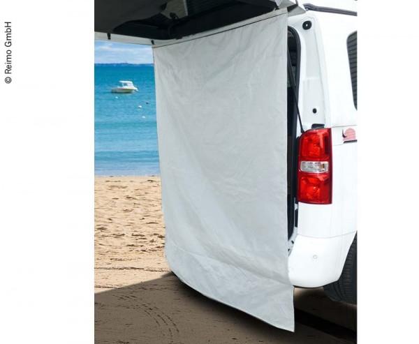 Duschvorhang und Sichtschutz für Van Heckklappenöffnung