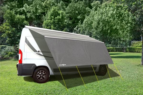 Tendalino parasole per profili di scorrimento per caravan,camper,furgonati e minibus con veranda