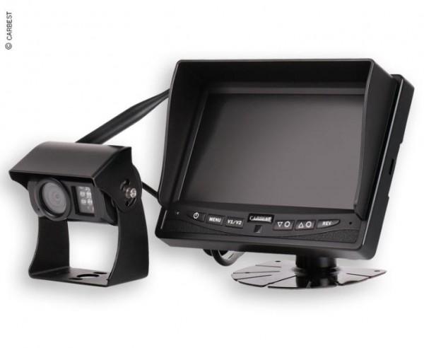 Rückfahrkamera 12V mit Funk Übertragung, inkl. Farb Monitor und schwenkbarer Farb Kamera