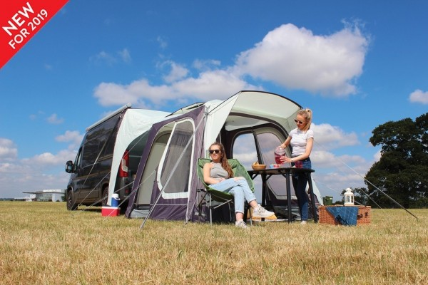Heckzelt für Campingbus und Kastenwagen aufblasbar Movelite