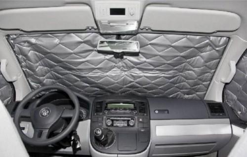 Thermomatte für Ford Tourneo / Transit Custom / Nugget kurzer und langer Radstand Fahrerhaus 3-tlg.