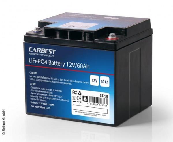 Lithium-Eisenphosphat Batterie LiFePO4 60Ah mit Batterie Manager