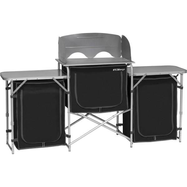Cucina da campeggio in alluminio XL