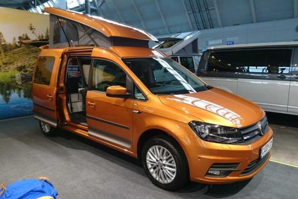 Schlafdach / Aufstelldach für VW Caddy Maxi komplett mit Bett und Zubehör