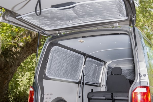 Thermomatten-Set für VW T5 / T6 rundum 8-tlg. für kurzem oder langem Radstand