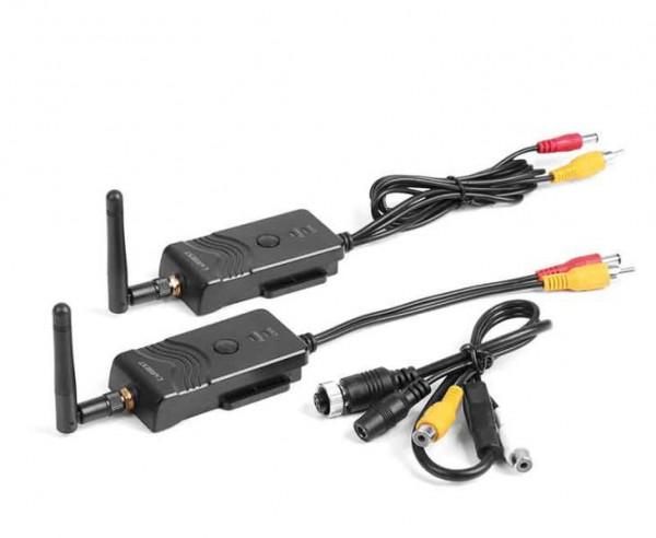 Radio trasmissione senza cavo per sistemi retrovisori, retrocamere, ricevitore e trasmettitore video