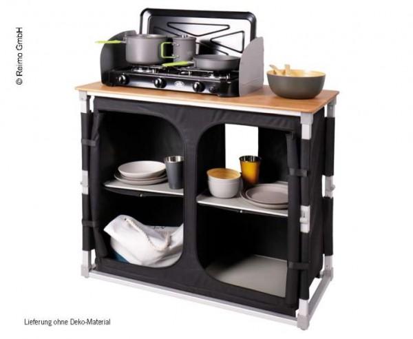 Küchenbox Bamboo Quick mit Bambus Arbeitsfläche und Schnellaufbausystem