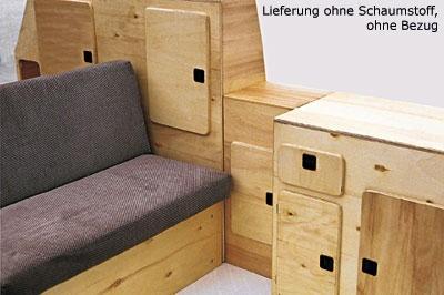 Jolly Möbelpaket mit Tisch und Klappsitzbank, für VW T3