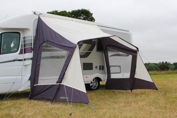 Sonnensegel / Vordach für Kastenwagen und Camper mit Seitenwänden