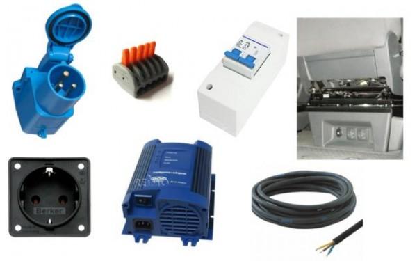 Technik-Paket 230V Anlage mit Ladegerät für 2. Batterie