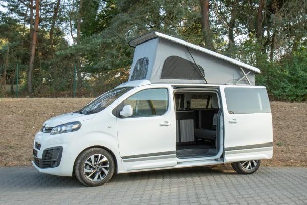 Tetto a soffietto / alzabile per Citroen Spacetourer, Peugeot Traveller e Toyota Proace incl. letto e accessori