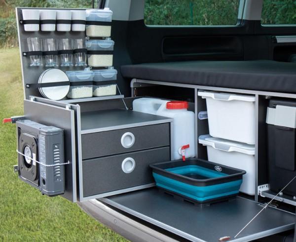 Mobile cucina posteriore Box campeggio per Volkswagen VW T5 / T6 Multivan e California Beach