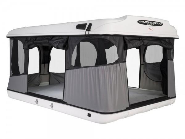 James Baroud tenda per tetto auto Evasion Evolution con guscio vetroresina