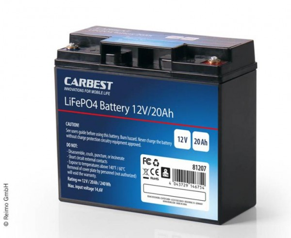 Lithium-Eisenphosphat Batterie LiFePO4 20Ah mit Batterie Manager