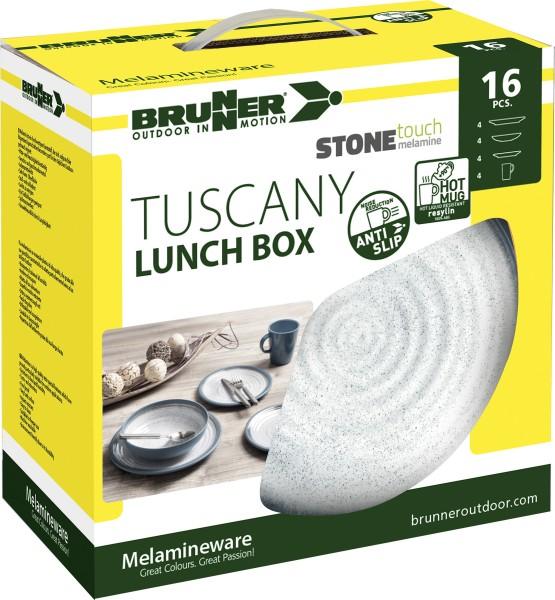 Camping Geschirr Set Lunch Box Tuscany aus Melamin