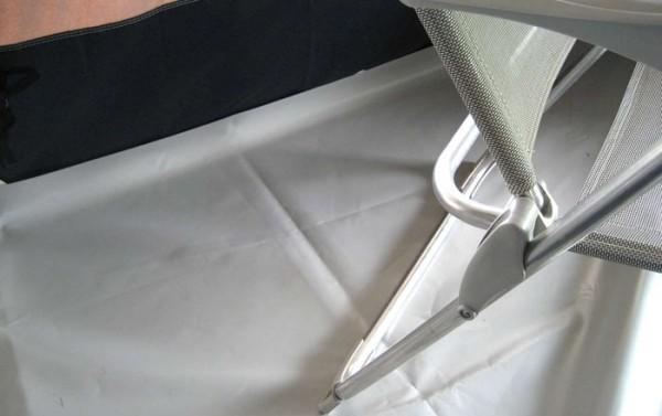 Kunststoffboden für Zelt