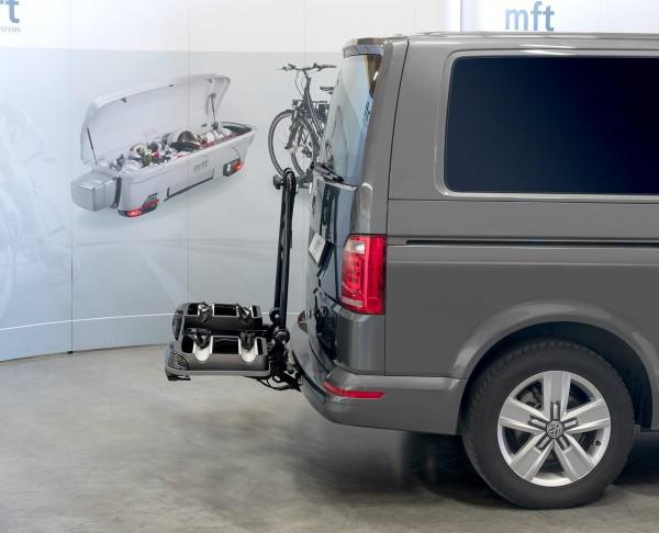 Portabici posteriore BackPower mft per gancio traino, basculante, fino a 4 bici
