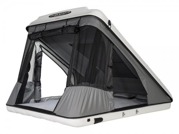 James Baroud tenda per tetto auto Discovery XXL Evolution con guscio vetroresina
