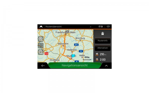 Navigation Software für Reisemobile XZENT X-MAP22FEU-MH